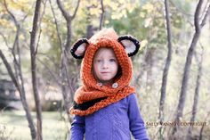Knit Fox Cowl Failynn Fox Child to Adult by ThePoppySeedShoppe