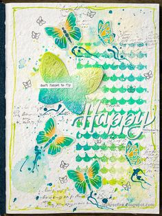 Layers of ink - Sprays and Splashes Art Journal Page by Anna-Karin Evaldsson. Made for the Simon Says Stamp Monday Challenge Blog. Art Journal Pages, Journal Ideas, Tombow Markers, Mixed Media Techniques, Fun Challenges, Simon Says Stamp, Paint Splatter, Sprays, Some Fun