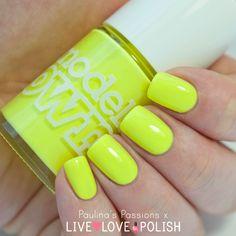 Bikini, Models_Own - pastel neon yellow / lacquer, perfect for summer, swatch Swatch, Live Love, Fun Nails, Nail Polish, Hair Beauty, Nail Art, Yellow Nail, Neon Yellow, Tans