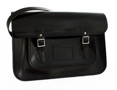 'Gatsby' Black Patent Iconic Tom Brown Shoulder Satchel £100