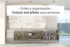 ORGANIZA TUS ARMARIOS DE COCINA CON CESTOS EXTRAÍBLES #orden #organización #bricolaje