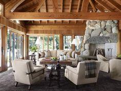 Brookside Retreat Living Room #TomStringerDesignPartners #TSDP