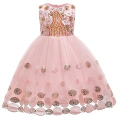 Hapae Kids Girl Princess Dress Baby Sleeveless Party Gown Elegant Cute Rompers Summer Pullover Girls Performance Outfit Prom Dresses