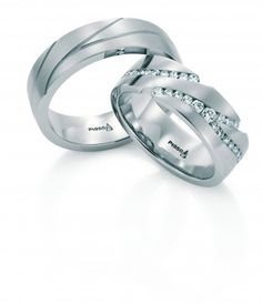 Christian bauer Wedding Rings on Christian Bauer Platinum www.us Diamond Wedding Rings, Diamond Rings, Jewelry Accessories, Jewelry Design, Matching Wedding Bands, Couple Rings, Engagement Rings, Jewels, Christian