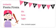 Printable Labels, Party Printables, Ideas Para Fiestas, Pirates, Projects To Try, Playing Cards, Paper Crafts, Games, Ideas Decoración