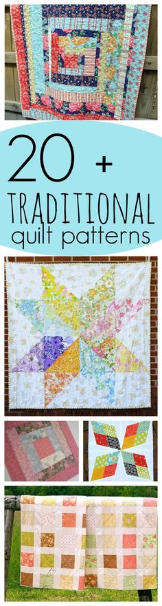 24 Traditional Quilt Patterns: Free Traditional Quilt Blocks and Vintage Patterns