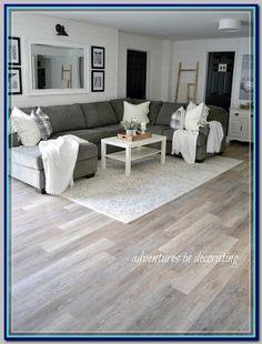(paid link) Is a Wood Floor in a Kitchen a Bad Idea? #woodfloorkitchen Luxury Vinyl Flooring, Luxury Vinyl Plank, Allure Vinyl Plank Flooring, Waterproof Vinyl Plank Flooring, Allure Flooring, Engineered Vinyl Plank, Vinyl Planks, Home Luxury, Luxury Homes