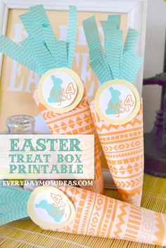 I saw some super cute Carrot treat boxes on pintrest the other day but you had to make them out of scrapbook paper and who has time to ...
