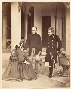 The Countess Canning, The Earl Canning, G.G. and Lord Clyde C.in C., Simla   Artist:Unknown  Date:1860  Medium:Albumen silver print from...