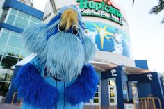 Raymond posing for a photo op outside the Trop!