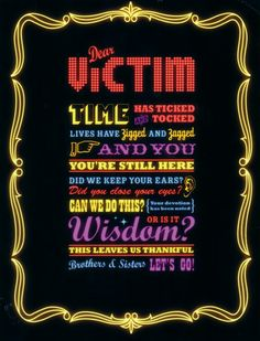 The Killers. I am a Victim, I have been since Hot Fuss