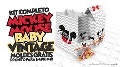Mickey Baby Vintage Kit Festa Gratis