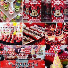 minnie mouse birthday dessert table  checkour IG : TIWI_IBUNYAFALIH contact: wa/line 08572057175