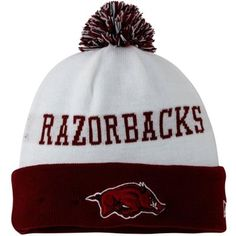 2f69c423c59 Mens Arkansas Razorbacks New Era Cardinal Team Hook Up Cuffed Knit Hat