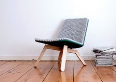 31 Lou, a Sustainable Lounge Chair made of Merino Wool by Famos