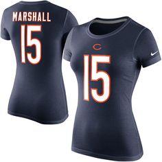 Brandon Marshall Chicago Bears Nike Women's Player Name & Number T-Shirt - Navy Blue - $18.99