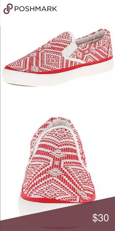 🆕List! Pink & Pepper Slip-On Loafers! NEW! Red print casual sneakers. Size 8.5. New in box. Pink and Pepper Shoes Flats & Loafers