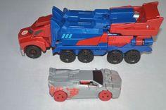 2015 Transformers Optimus Prime Semi Truck Hasbro Tomy + Race Car Transformers Optimus Prime, Semi Trucks, Race Cars, Hobbies, Racing, Vintage, Tomy, Drag Race Cars, Running