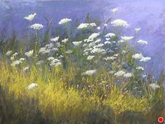 """Queen Anne's Lace#4 by Kathy McDonnell Pastel ~ 12"""" x 16"""""""