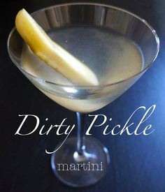 Dirty Pickle Martini - a play on a classic dirty - spicy pickle juice makes all the difference!