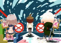 Hajime, Chiaki and Nagito