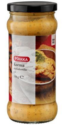 Pirkka korma ateriakastike on mieto ja kermainen intialainen ruoanvalmistuskastike. Kormakastiketta voi käyttää lampaan, broilerin, kalan, äyriäisten tai vihannesten kanssa.