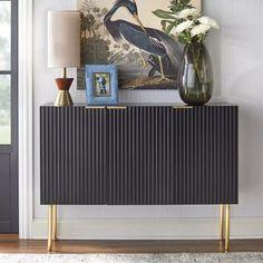 Valen Channel Front Sideboard - Lifestorey : Target Bar Furniture, Furniture Deals, Black Sideboard, Vinyl Record Collection, Cabinet Dimensions, Dining Room Bar, Best Dining, Cabinet Doors, Table Linens