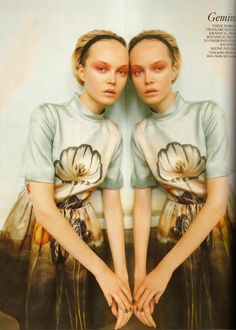 UK Vogue December 2010 Star Signs editorial photographed by Tim Gutt