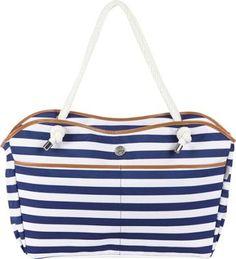 Beach Tote Stripe Blue. Beach tote.