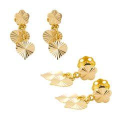 Heart Shape Hanging Stud Earrings made of 22carat Yellow Gold  www.MarketOrders.net  #MarketOrders #OnlinePlatform #Online #Marketplace #GoldJewellery #Business #Business4Business #B4B #HeartShape #Gold #Earrings #Jewellery #studearrings #22carat #YellowGold