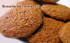 Receita de biscoito de farelos FIT rico em fibras e proteínas, ótimo para dietas de emagrecimento como a dukan.