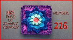 Number 216 of our 365 Days of Granny Squares is on the blog! This one is a smaller version of the Blooming Daydreams Throw Pillow that I posted a few days ago. Enjoy! Share your photos!! ❤ Nadia #croc