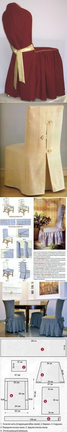 Covers for chairs the hands Chair Covers, Design Crafts, Table And Chairs, Slipcovers, Upholstery, Decoration, Sewing, Inspiration, Clothes