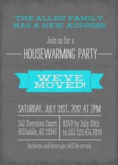 housewarming invitation bulletin 731x1024 Modern Housewarming Invitations: New Designs