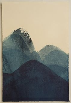 indigo dye dipped paper (Lynn Pollard - Broadwovens.com)