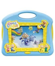 Watch the Cloudbabies and all their Sky Friends all day long on this Musical TV. Press the button to hear and sing-along to the Cloudbabies theme tune. Requires 3 x AA batteries, included for Try-Me. Colours and styles may vary. For ages 12 months and over.