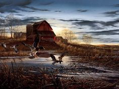 Terry Redlin- we just bought this at the auction last night!