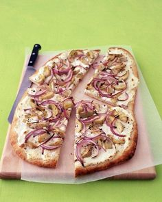 Pizza with Ricotta, Artichokes, and Onions Recipe