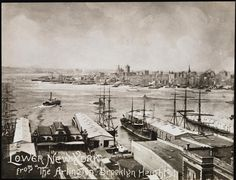[Lower New York from the Arlington in Brooklyn Heights.]