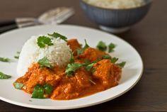 Tikka masala Korma, Egg Recipes, Chicken Recipes, Healthy Recipes, Healthy Food, Penne, Oriental Food, Chana Masala, Thai Red Curry