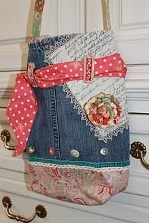 vintage jean bag- would make a cute design for an apron
