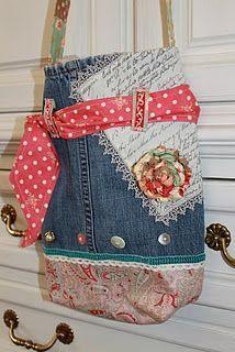 vintage jean bag- would make a cute design for an apron