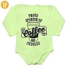 Proud Sponsor Of Coffee And Cuddles Baby Long Sleeve Romper Bodysuit XX-Large - Baby bodys baby einteiler baby stampler (*Partner-Link)