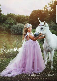 Unicorn Photography. Beautiful girl!  Princess and her unicorn