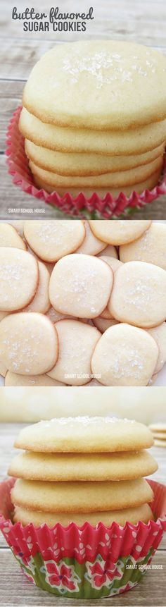 A recipe for Butter Flavored Sugar Cookies | Smart School House