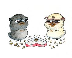 InkPug - Handmade Funny Pug Art, Pug Cards and Dog Art! - on Etsy