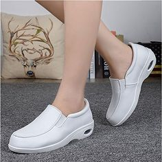 Relax fit Air-cushion Rubber Sole, Non-slip Formal Shoes, Casual Shoes, Shoes For School, Winter Shoes For Women, Moon Boots, Nursing Shoes, Slingback Shoes, Jelly Shoes, White Boots