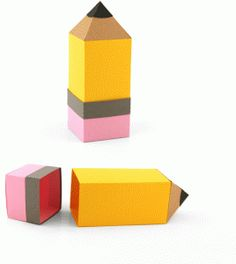 3d pencil shaped box with eraser lid-----------------------------------I think I'm in love with this shape from the Silhouette Online Store!