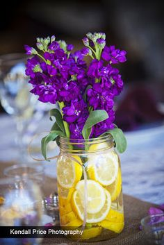 fruit and flower centerpieces