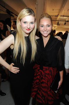 Actresses Abigail Breslin and AnnaSophia Robb attend Alice Olivia By Stacey Bendet Spring 2013 Presentation. (Photo: Rabbani And Solimene Photography / Getty Images)